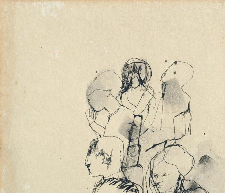 The Sketch Class - Figurative - American Modern Art by David Rosen (b.1912)