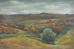 Mid Century Impressionist Autumnal Landscape
