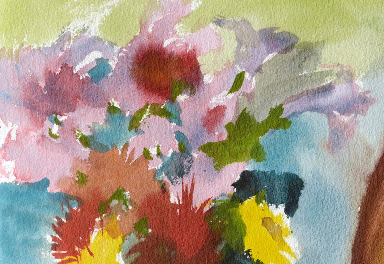 Abstracted Still Life with Flowers - Art by Les Anderson
