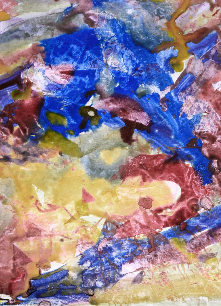 Primary Color Abstract - Brown Abstract Drawing by Les Anderson