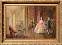 Dancers in the French Court 18th century scene