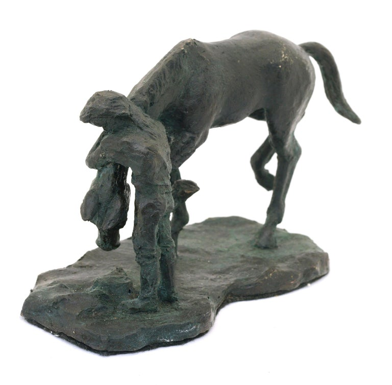 A Girl and Her Horse - Bronze Sculpture - Edition of Six For Sale 1