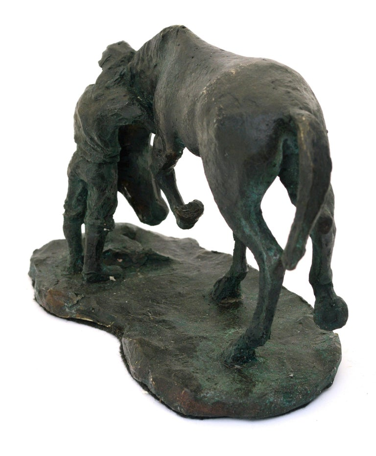 A Girl and Her Horse - Bronze Sculpture - Edition of Six For Sale 3