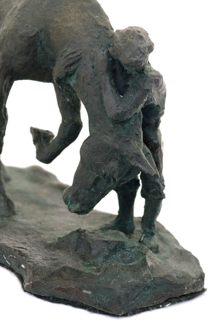 A Girl and Her Horse - Bronze Sculpture - Edition of Six For Sale 4