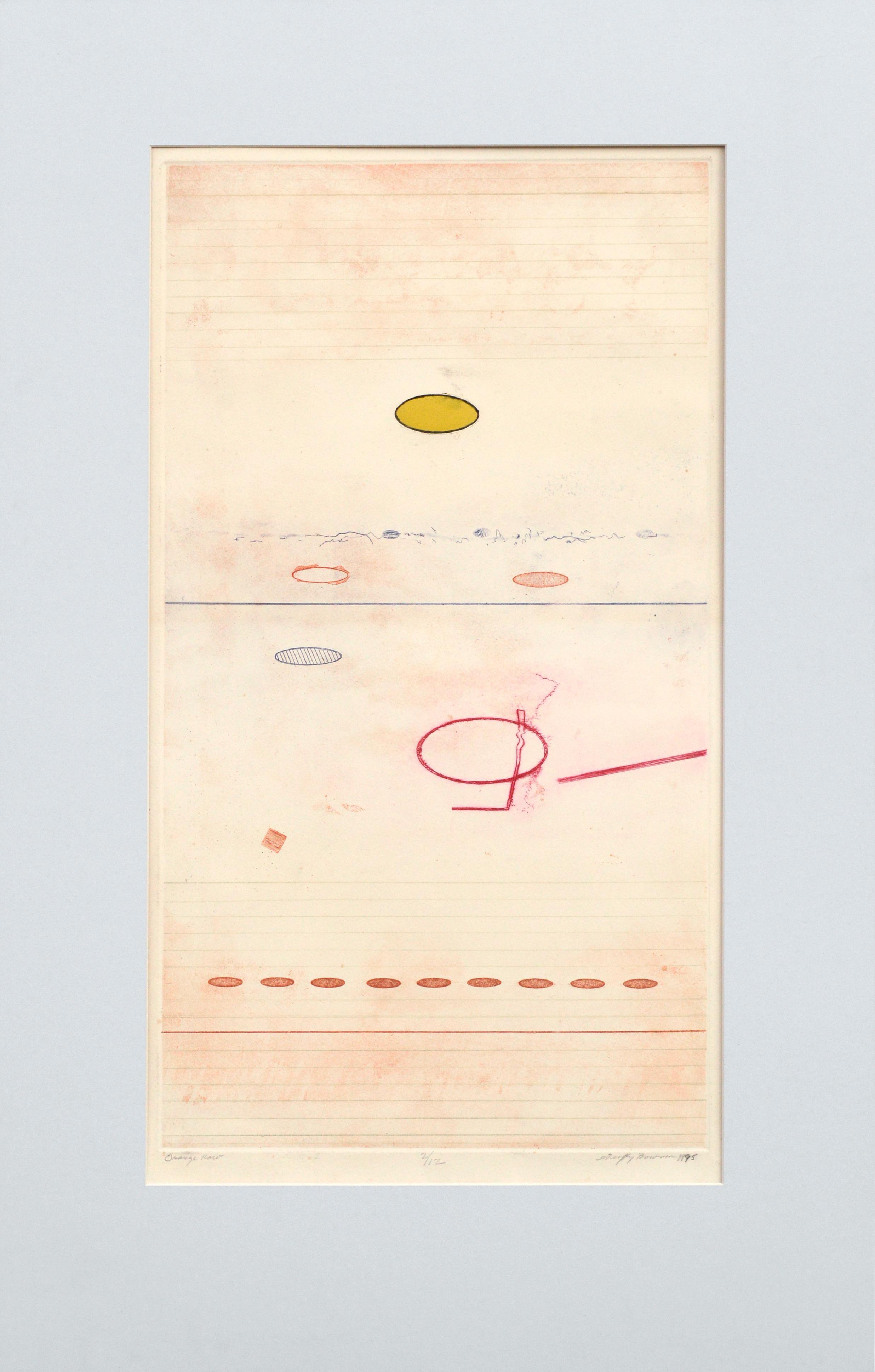 """Orange Row"" Abstract Geometric Landscape"