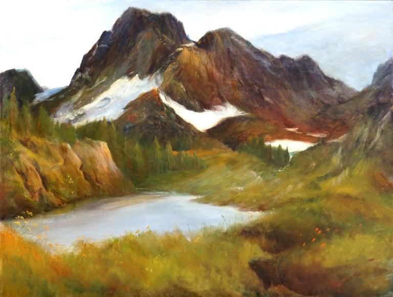 Kenneth Lucas Landscape Painting - Sierra Mountain Lake Landscape Yosemite