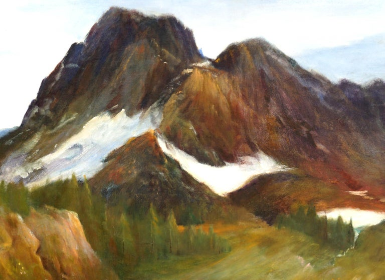 Sierra Mountain Lake Landscape Yosemite - American Impressionist Painting by Kenneth Lucas