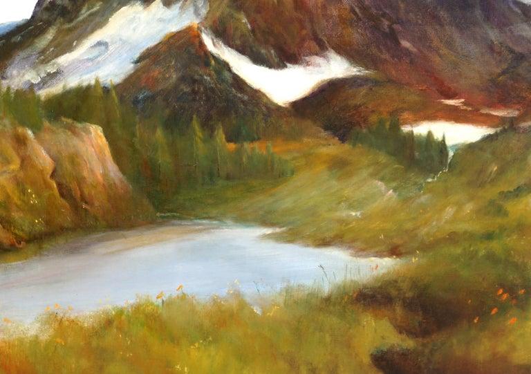 Sierra Mountain Lake Landscape Yosemite - Painting by Kenneth Lucas