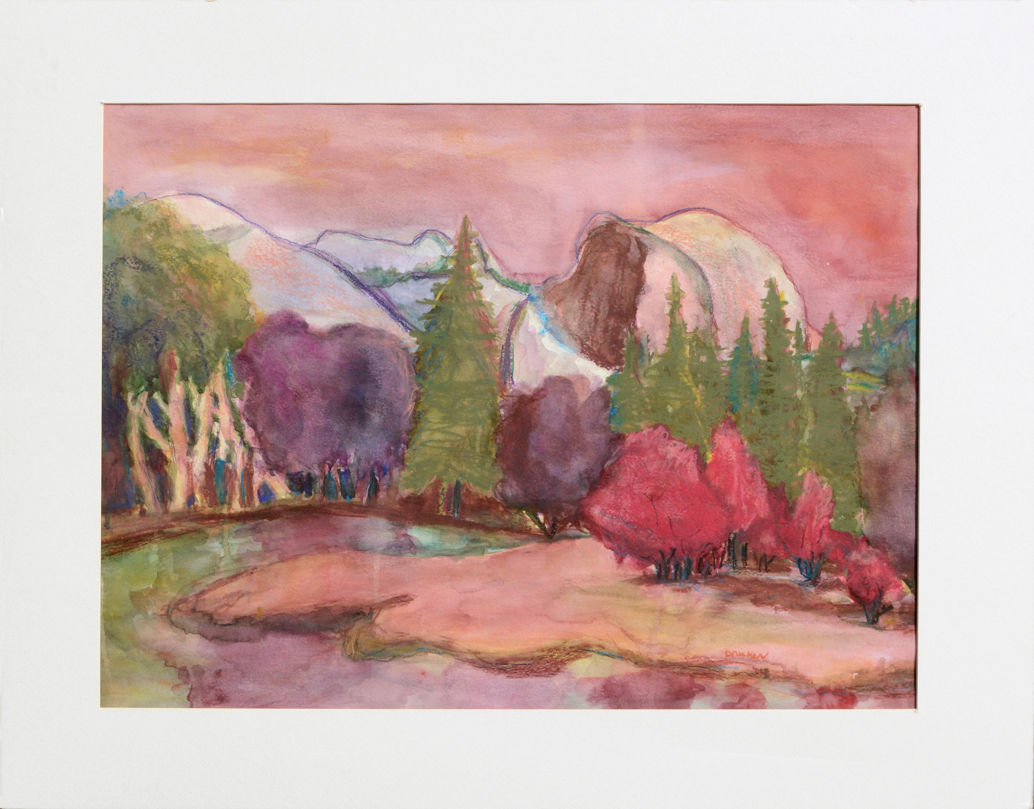 Yosemite Half Dome in Pastel Colors - Landscape