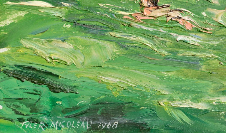 Rocky Outcropping and Bathers at the Swimming Hole - Landscape For Sale 3