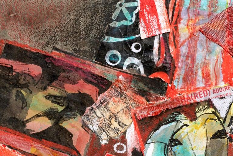 Red Goat Collage - Contemporary Art by Karen Druker