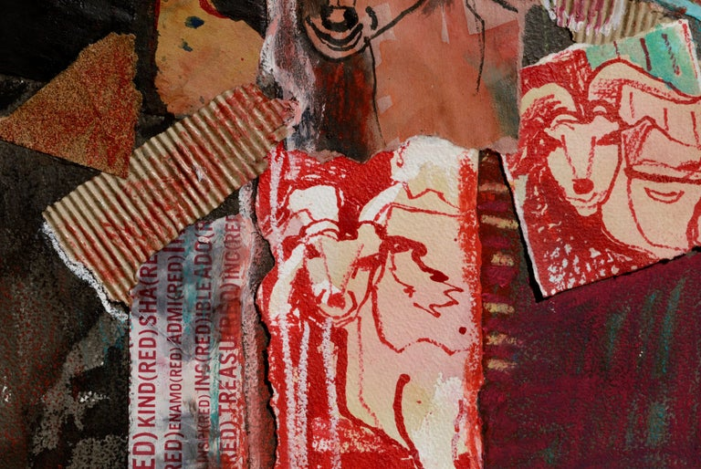 Red Goat Collage For Sale 4