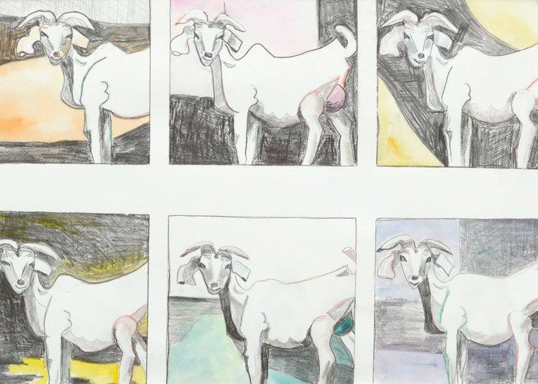 Six Goats - Painting by Karen Druker