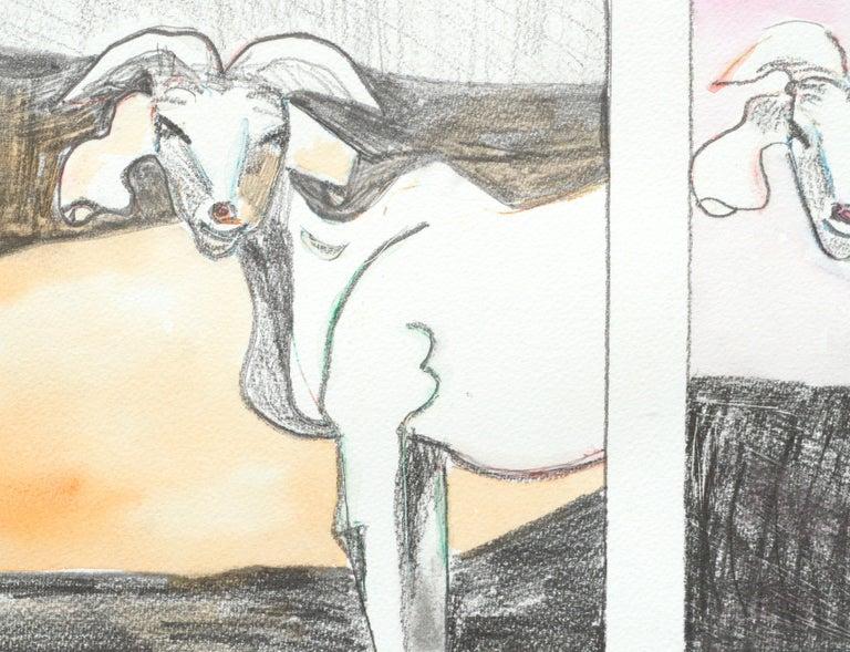 Six Goats - Contemporary Painting by Karen Druker