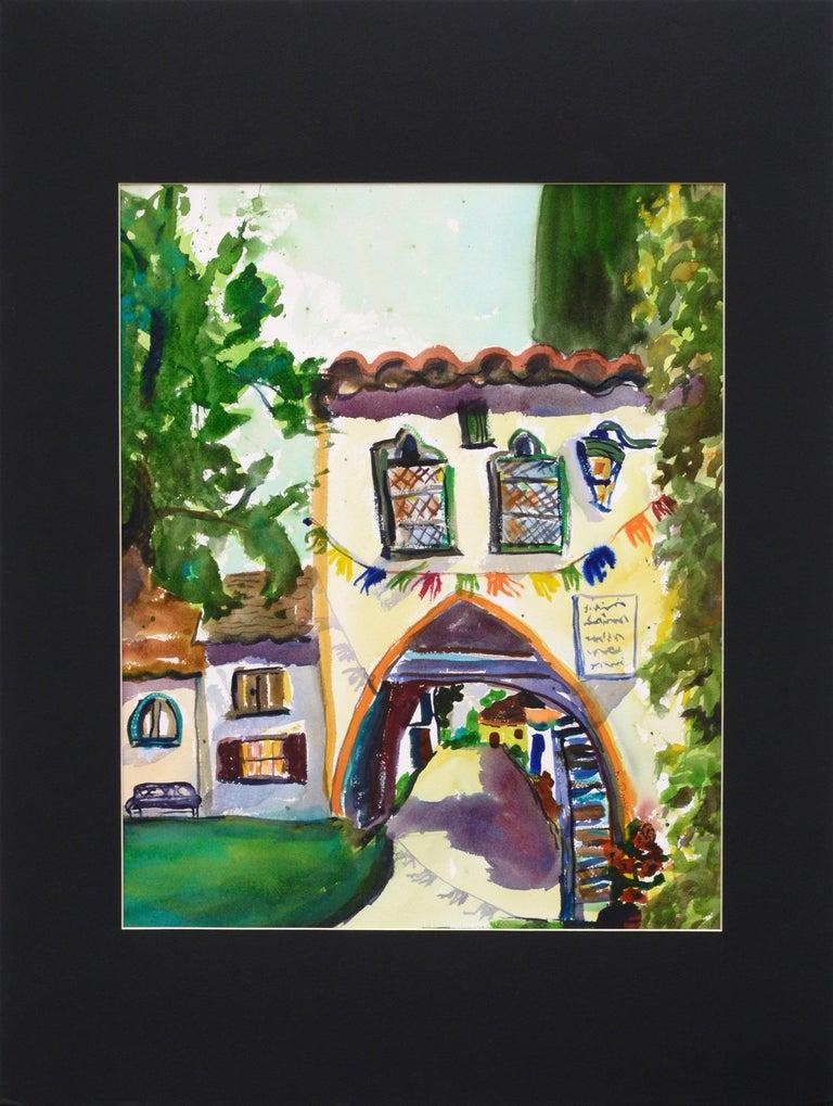 Karen Druker Landscape Art - Archway Decorated for the Festival - Landscape