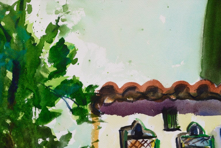 Archway Decorated for the Festival - Landscape - Contemporary Art by Karen Druker