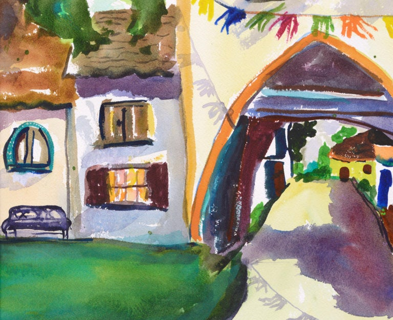 Archway Decorated for the Festival - Landscape For Sale 1