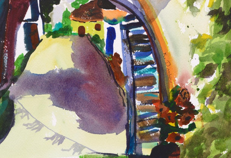 Archway Decorated for the Festival - Landscape For Sale 3