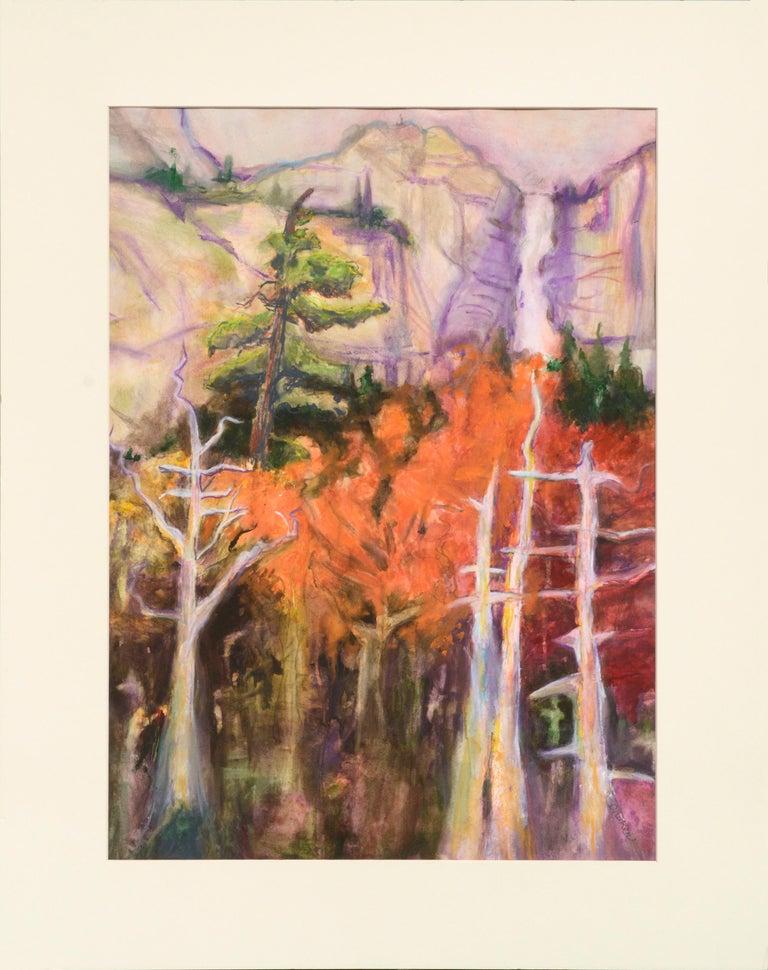 Karen Druker Landscape Art - Fauvist Nevada Falls Yosemite Landscape