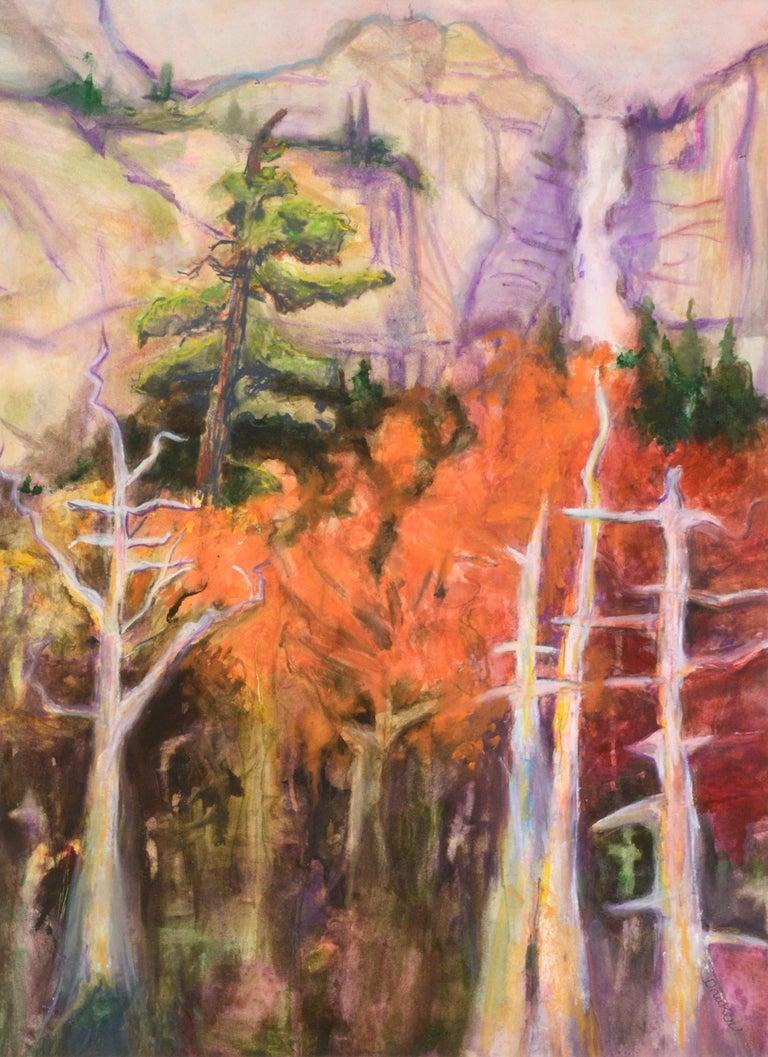 Fauvist Nevada Falls Yosemite Landscape - Art by Karen Druker