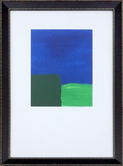 Blue & Green Colorblock Abstract