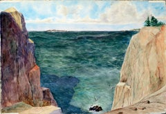 Coastal Bluffs and Seagull by Joseph Yeager