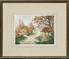 """En Foret, """"In the Forest"""" Aquatint - Mid Century Engraving Landscape"""