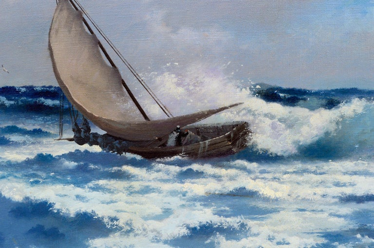 Crashing the Surf by Carl Davidson For Sale 3