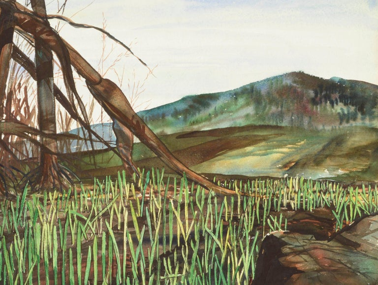 Mountain Grasslands - American Impressionist Art by Joseph Yeager