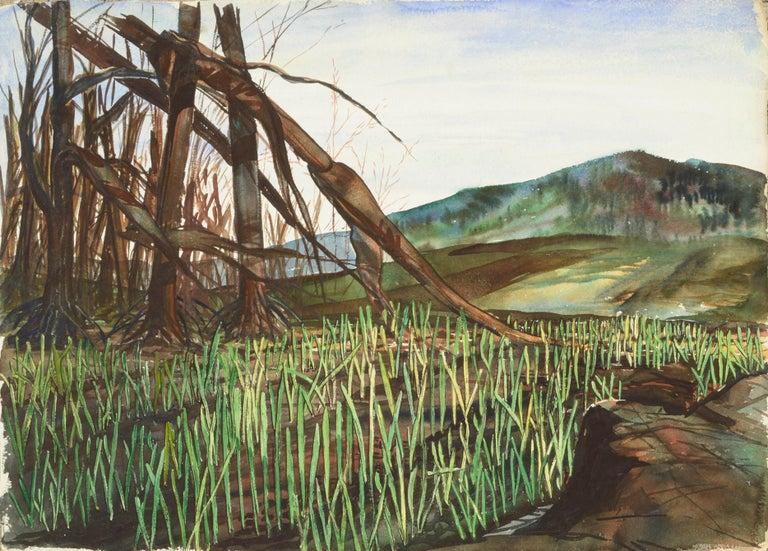 Joseph Yeager Landscape Art - Mountain Grasslands