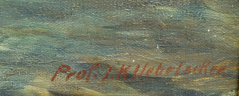 Atlantic Ocean Expanse by Joseph Uebelacker 1930 - Gray Landscape Painting by Joseph Kurt Uebelacker