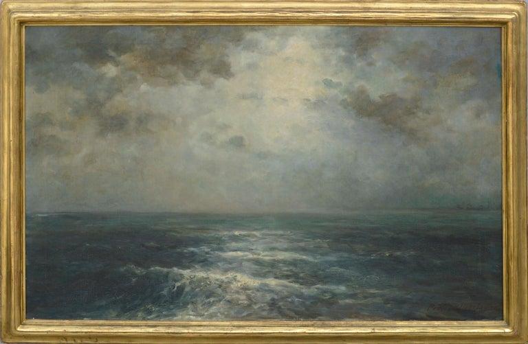 Joseph Kurt Uebelacker Landscape Painting - Atlantic Ocean Expanse by Joseph Uebelacker 1930