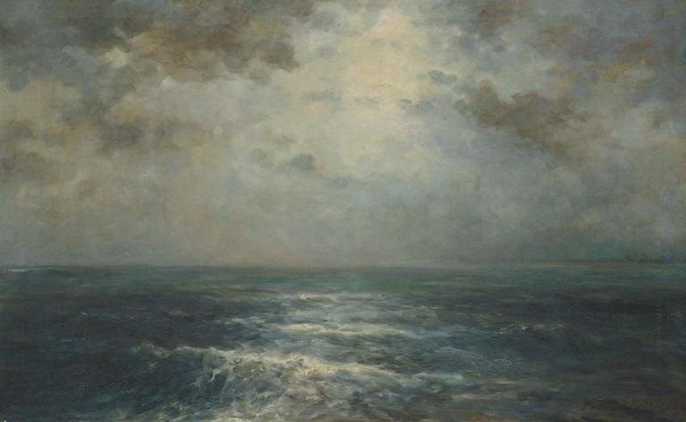 Atlantic Ocean Expanse by Joseph Uebelacker 1930 - Painting by Joseph Kurt Uebelacker