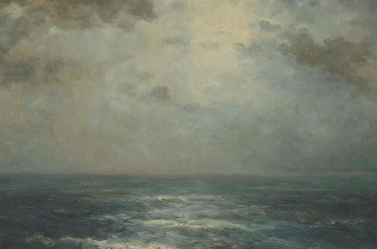 Atlantic Ocean Expanse by Joseph Uebelacker 1930 - Impressionist Painting by Joseph Kurt Uebelacker