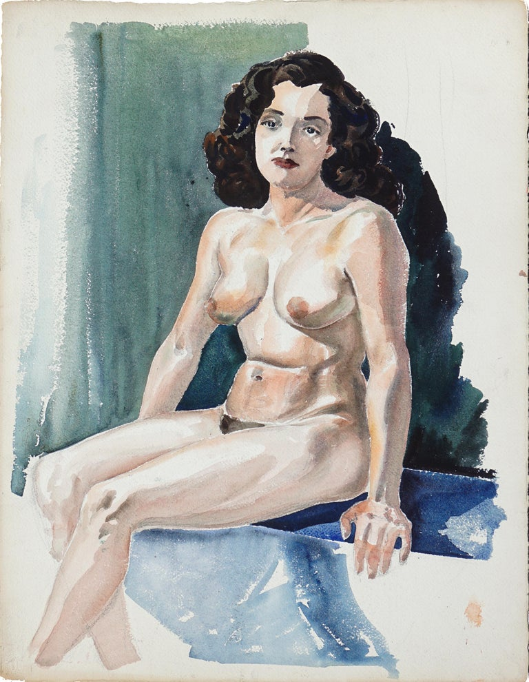 Joseph Yeager Portrait - Seated Nude Woman