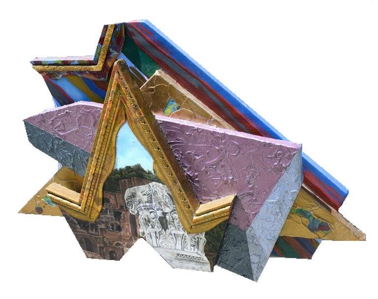 Wonderful post-modern wall sculpture that is part of artist Jack Reilly (American, b. 1950)