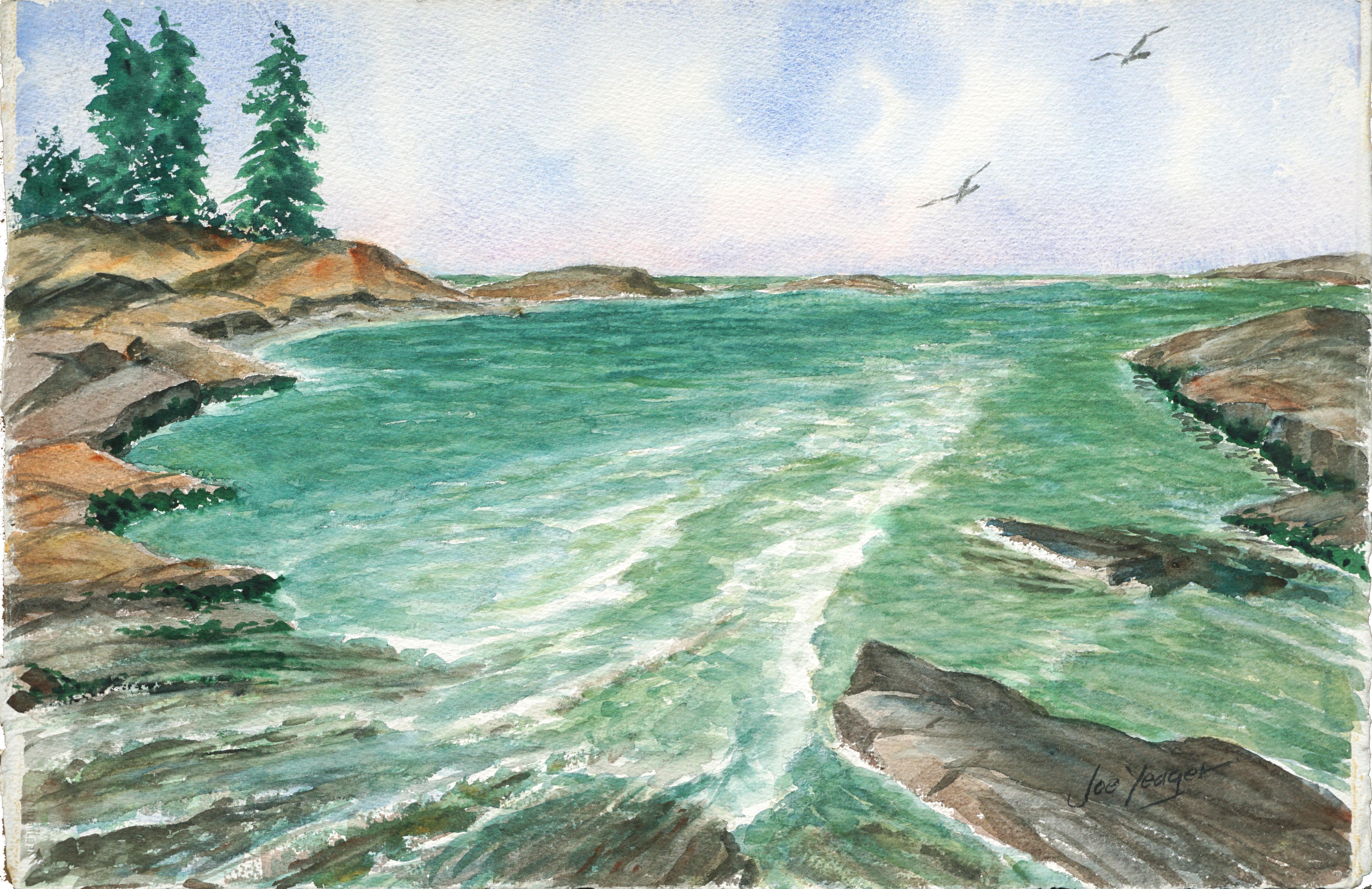 Tide Pool Runoff - Mid-Century Seascape