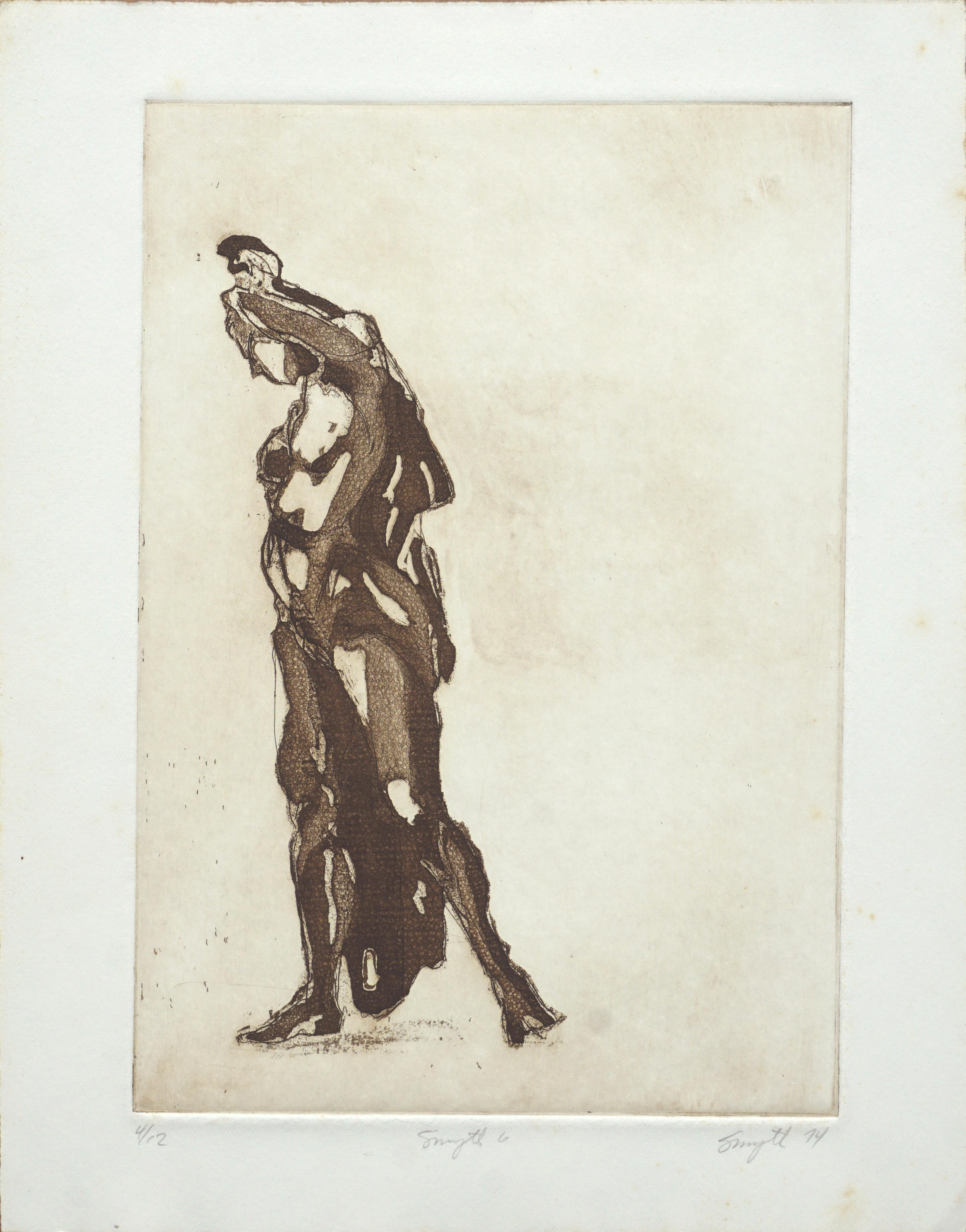 """""""Smyth 6"""" Figurative Abstract Lithograph"""