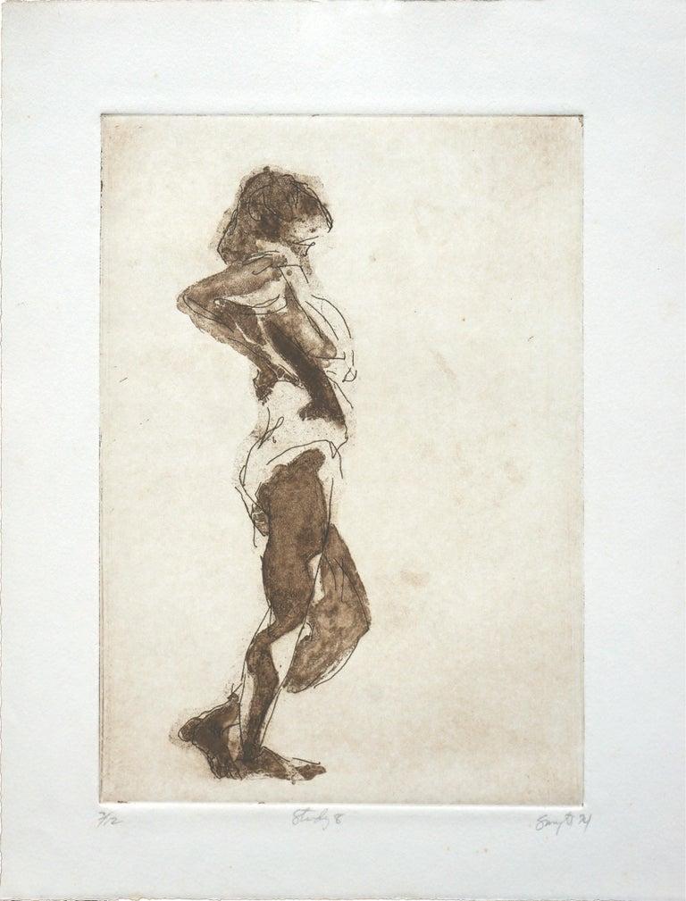 "Jim Smyth Portrait Print - ""Study 8"" Figurative Lithograph"