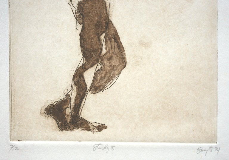 Lithograph of a woman by Jim Smyth (American, b. 1938). Numbered, titled, signed and dated