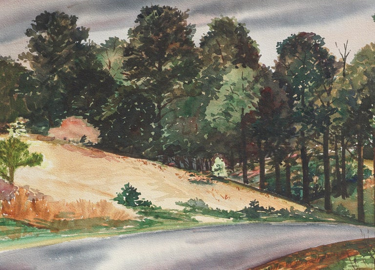 Country Lane in the Pines Landscape by Joseph Yeager For Sale 1