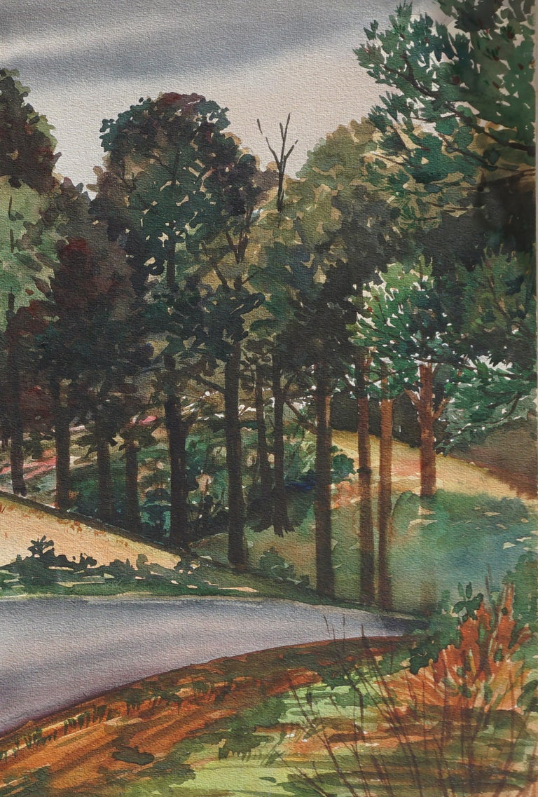 Country Lane in the Pines Landscape by Joseph Yeager For Sale 2