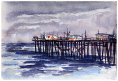 Capitola Pier Seascape by Doris Warner