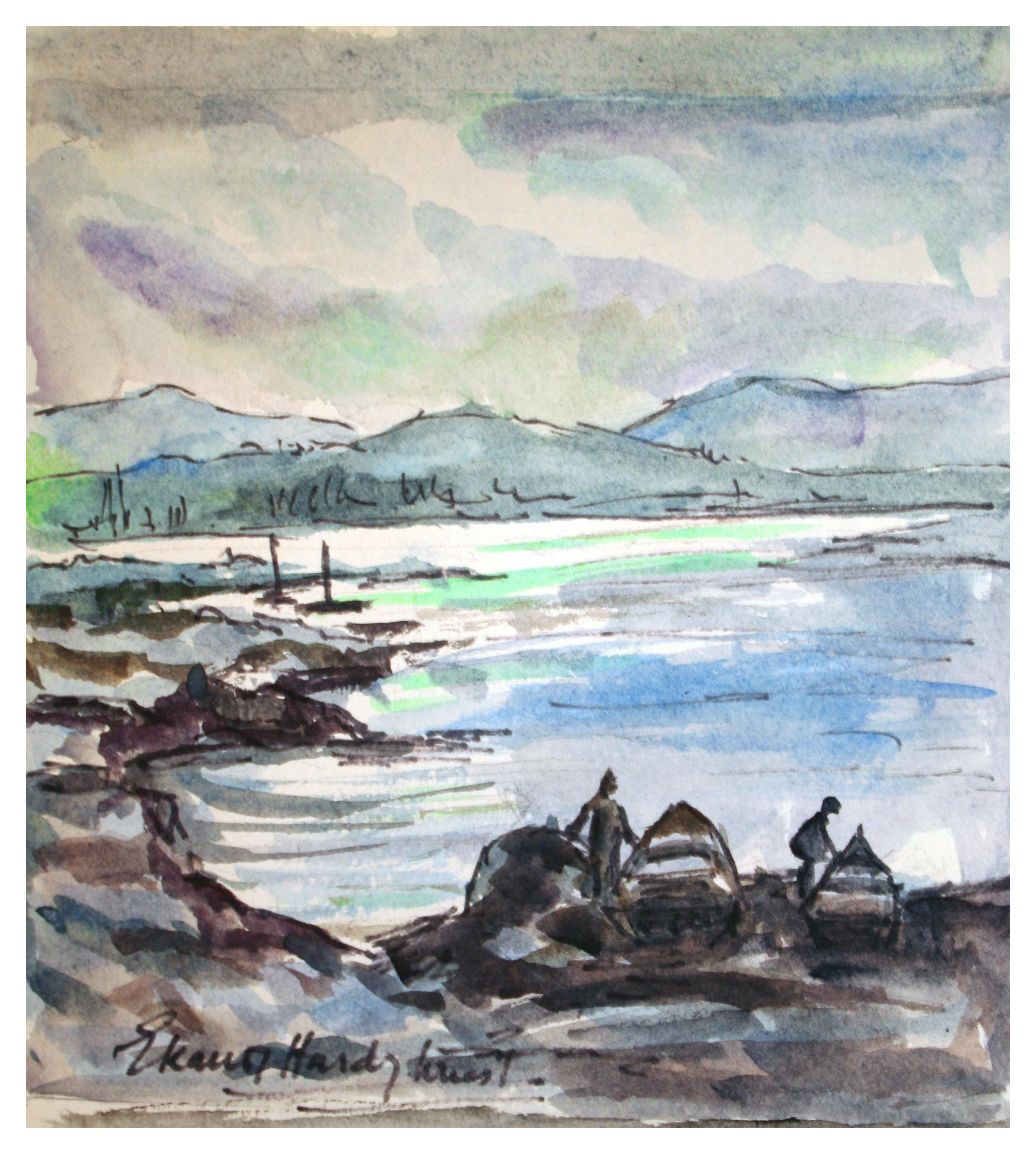 Fishing Boats at Shore - Landscape