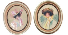 Gibson Girls - Set of Two Portraits