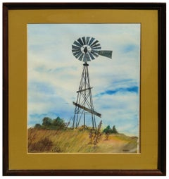 Country Windmill Rural Landscape