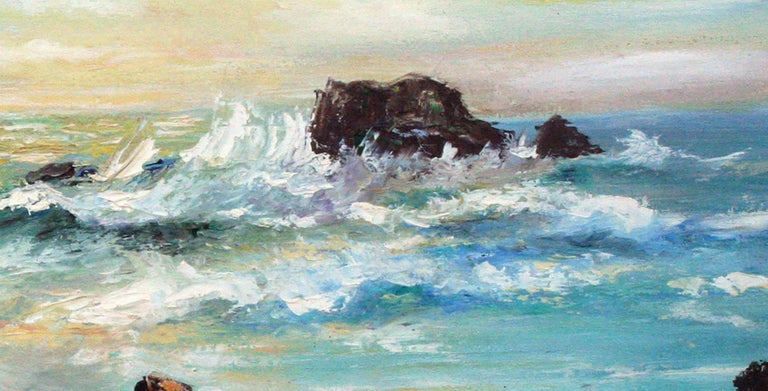 Big Sur Rocky Seascape - American Impressionist Painting by Willard Little