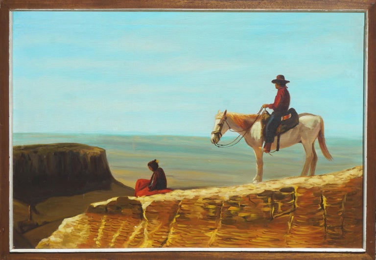 R. David Figurative Painting - View From the Mesa Verde New Mexico
