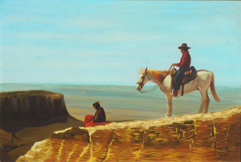 View From the Mesa Verde New Mexico - Painting by R. David