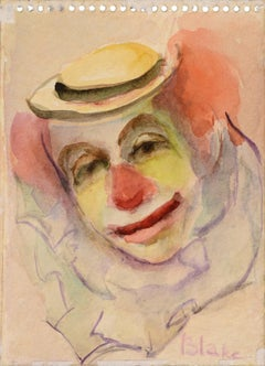 Clown with a Hat (Clown Portrait #9)